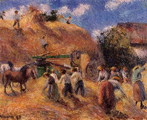 The Harvest Harvest Hers the harvest 1883 camille pissarro wikiart org