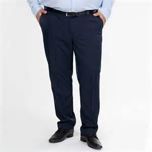 pantalon de costume uni coupe droite grande taille