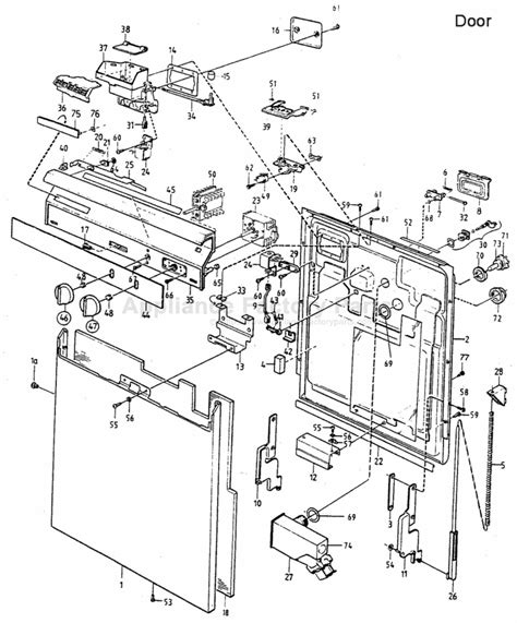 asko dishwasher parts diagram parts for 1400 asko dishwashers