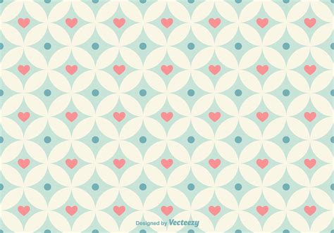 pattern heart vector geometrical hearts vector pattern download free vector