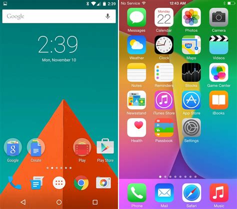 android 5 0 lollipop vs ios 8 ui comparison vote for the
