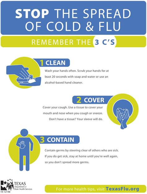 7 Tips On Preventing The Common Cold by Flu Prevention City Of Arlington Tx
