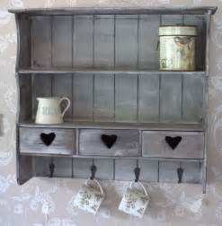 shabby chic wall unit quot wooden wall cabinet shelves vintage shabby shelf quot