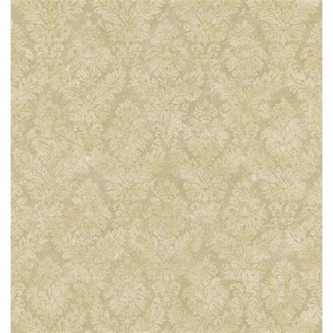 Brewster Home Depot by Brewster Textured Weaves Beige Textured Damask Wallpaper