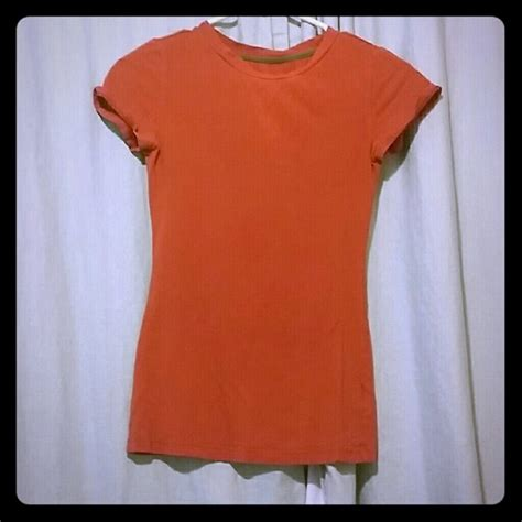 rust colored shirt 53 juniors tops fitted rust colored t shirt from