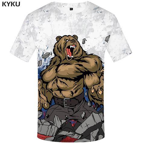 aliexpress russia kyku brand russia t shirt bear t shirt russian flag tshirt