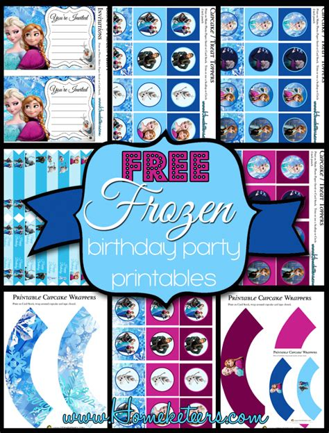 Printable Decorations For Birthday by Disney S Frozen Birthday Printable Set Free