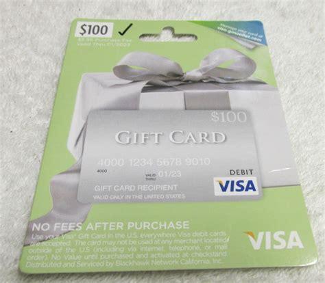 Visa Gift Card 100 Dollars - 100 dollar visa gift card
