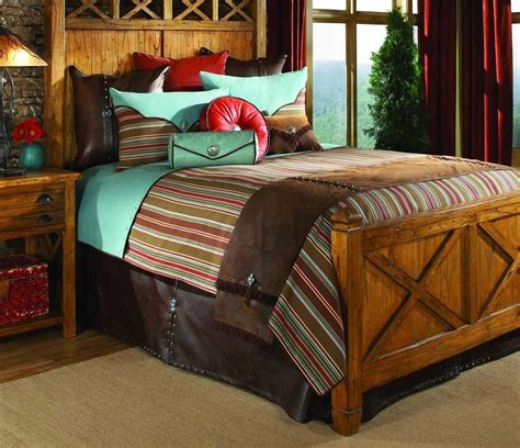 decorate cabin style bedding of rustic huts