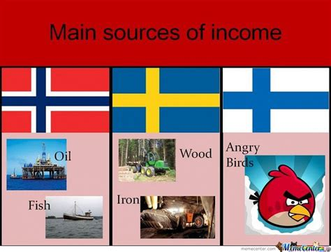 main sources of income norway amp sweden amp finland by serkan