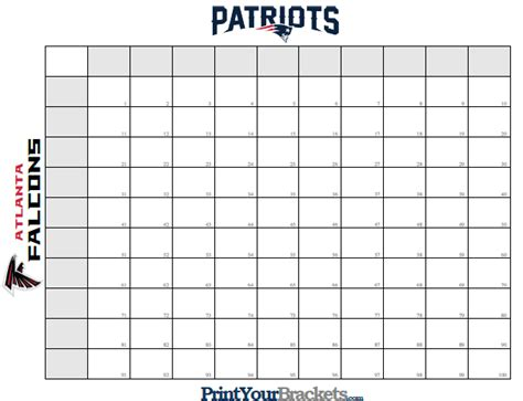 super bowl squares template how to play sbnation com