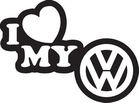 I My by I My Volkswagen Autocollants Stickers