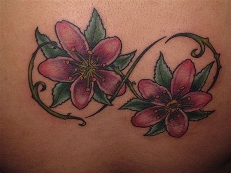 infinity tattoo cover up infinity symbol with colored flowers love this as a