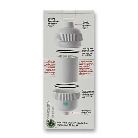 New Wave Enviro Shower Filter by New Wave Enviro Premium Shower Filter 1 Filter