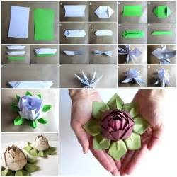 How To Make Lotus Flower From Paper How To Make Origami Lotus Flower Pictures Photos And