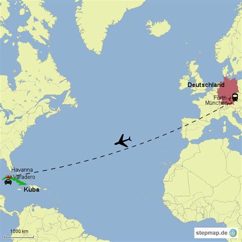 Flug Nach by Weltkarte Kuba Deutschland Johannesbernardo Landkarte Kuba