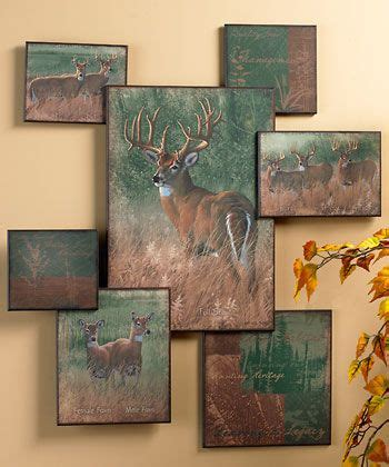whitetail deer home decor nature s plan whitetail deer collage wall art wild