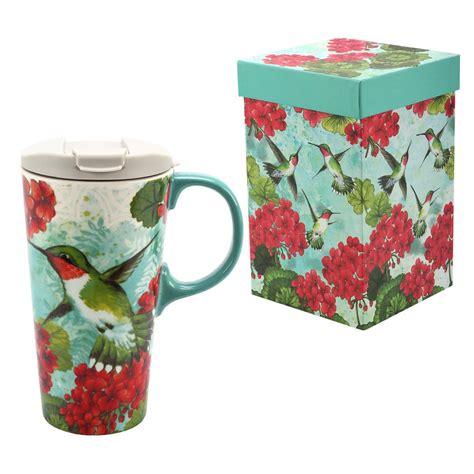 hummingbird garden gift boxed travel mug the hunger site