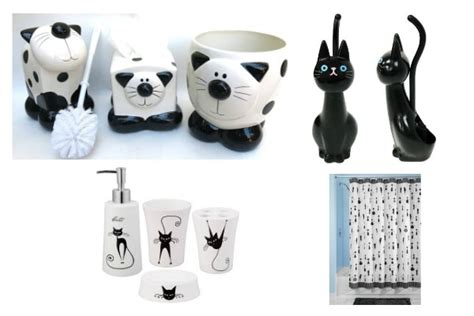 cat bathroom accessories janet s black and white cat accessories to