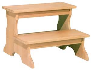 solid alder step stool by whittier wood gt wood land unfinished