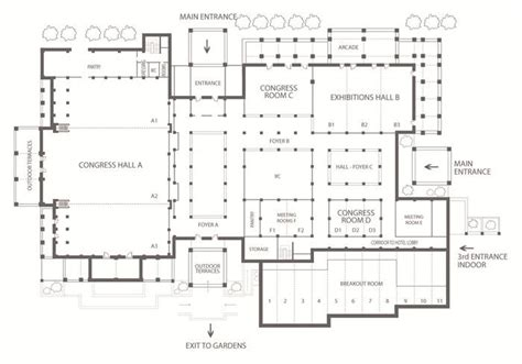 convention center floor plans convention center floor plan beach hotels pinterest