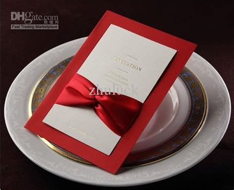 tying ribbon for wedding invitations wholesale wedding invitation card with ribbon tie
