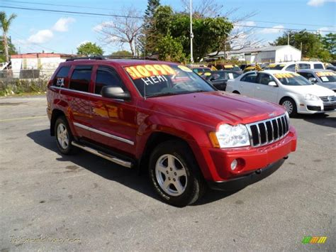 red jeep cherokee 2005 jeep grand cherokee limited 4x4 in inferno red