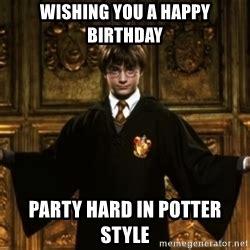 Harry Potter Happy Birthday Meme - birthday wishes harry potter