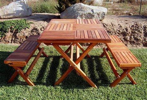 picnic table folds into bench portable folding picnic table homefurniture org