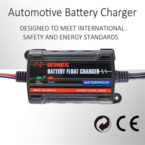 agm battery float charger universal safety auto battery maintainer float charger 12v