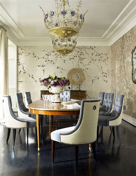 chinoiserie dining room 22 breath taking interiors with de gournay wallpaper