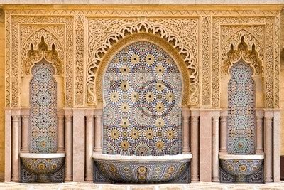 Dq Maroko papier peint typical moroccan tiled in the city