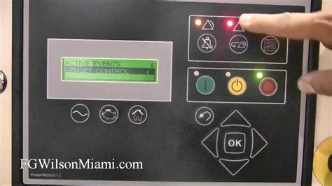 fg wilson miami how to reset the emergency stop alarm on