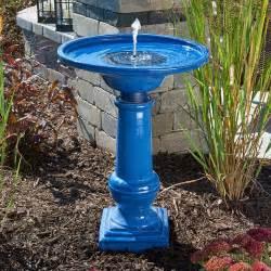 athena solar on demand ceramic bird bath fountain bird