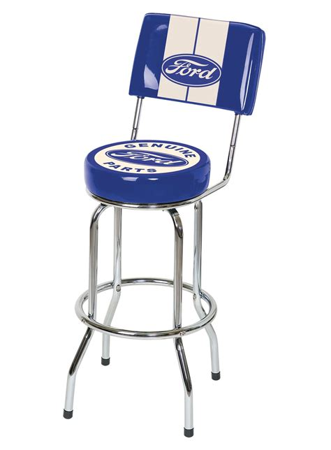 ford bar stool with backrest ford motor company ford genuine parts bar stool with backrest