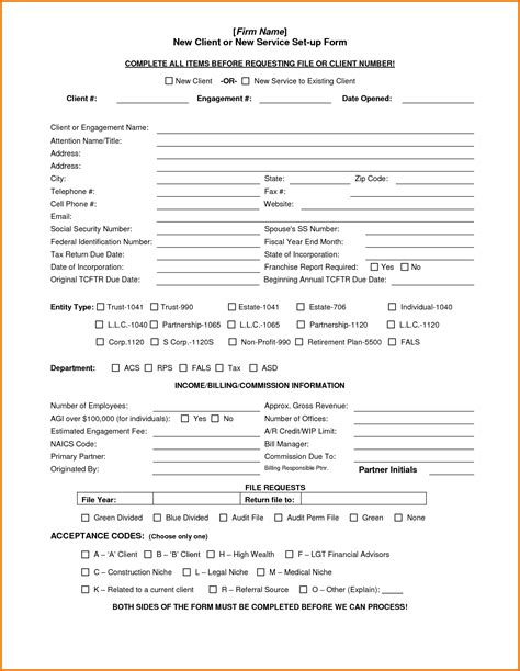 new client template 10 new client form template plantemplate info