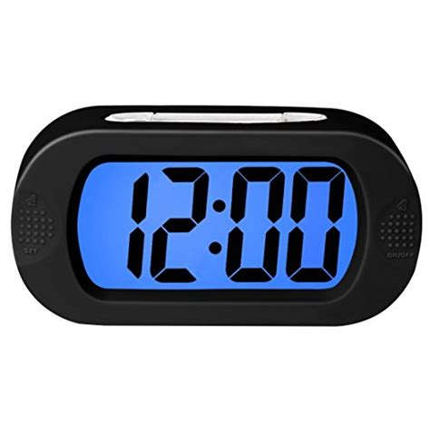 from usa zhpuat colorful light digital alarm clock with snooze simple setting progressive