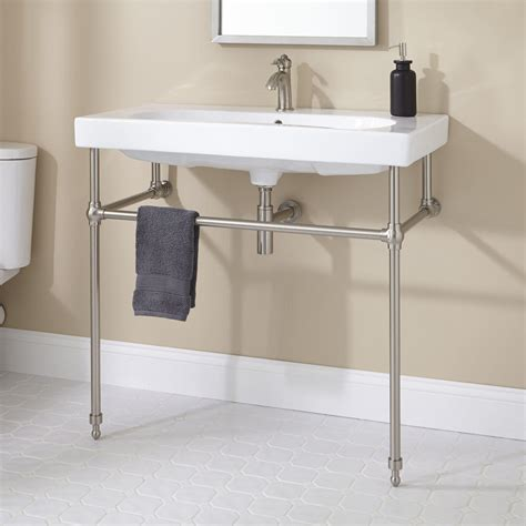 Bathroom Sink Consoles by Pennington Console Sink With Brass Stand Bathroom
