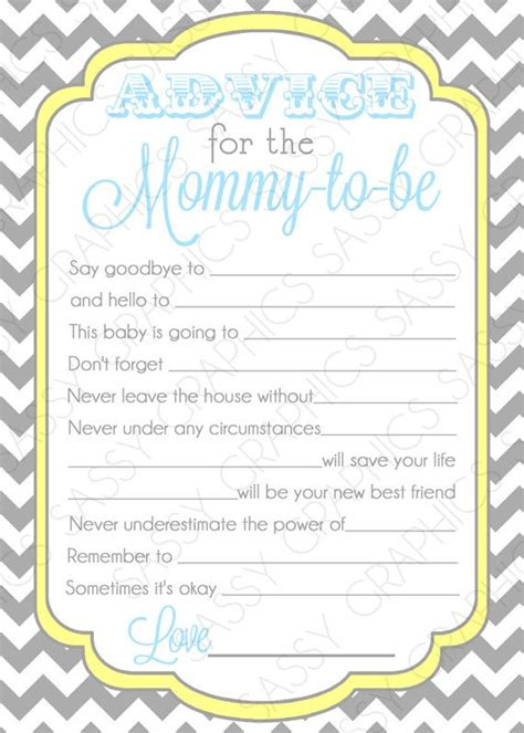 templates for baby shower advice cards 17 best ideas about baby shower advice on pinterest