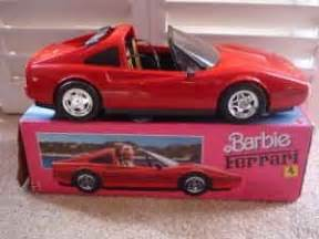 barbie ferrari white barbie ferrari red car walk down memory lane pinterest