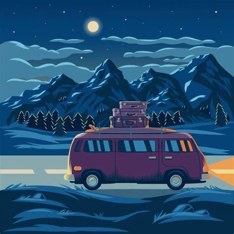 imagenes vectoriales gratuitas vector illustration of a mountain landscape vector free