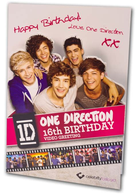 One Direction Birthday Cards Cfc001 One Direction Video Greeting Cards Sler Assortment