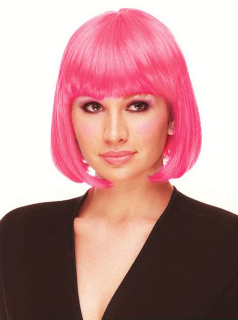 Termurah Wig Bob Pink Wig pink bob wig with bangs