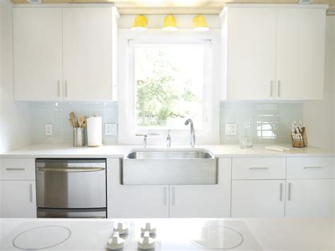 White Tile Backsplash Kitchen soft white glass subway tile modwalls lush cloud 3x6