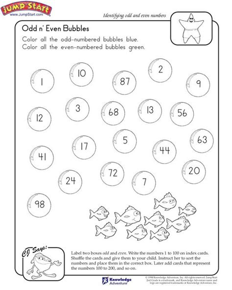 free printable math worksheets even odd quot odd n even bubbles quot 2nd grade math worksheet on odd