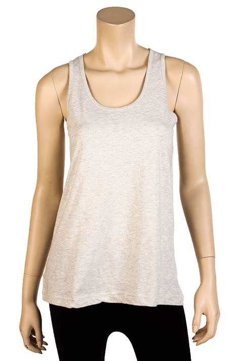 Top Joline Fit L womens fit tank top 100 cotton relaxed flowy basic sleeveless shirt s m l ebay