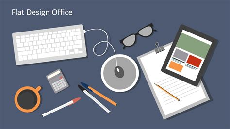 Flat Design Office Powerpoint Templates Slidemodel Office Templates