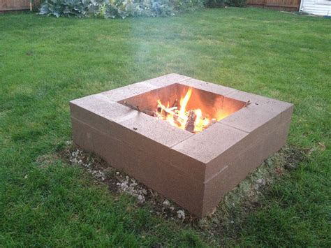Block Firepit Cinder Block Pit Outdoors