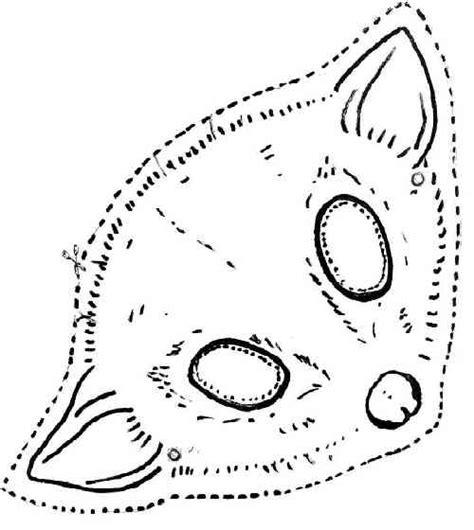 printable possum mask template treat kids page who am i