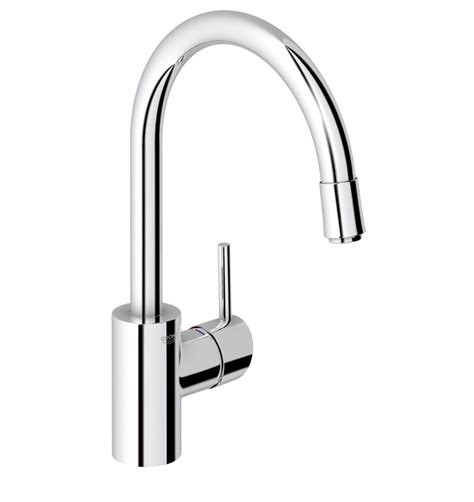 Mixer Kitchen grohe concetto gooseneck kitchen mixer with pull out spray